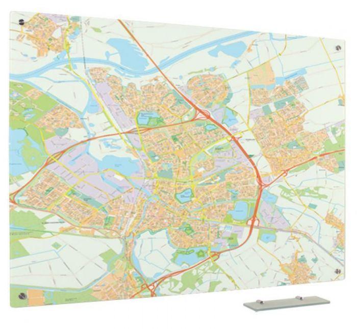 Glassboard Kaart Den Bosch 90x120 Cm