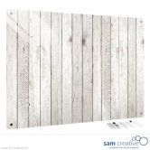 Glass Series Ambience Light Wooden Fence 60x90 cm