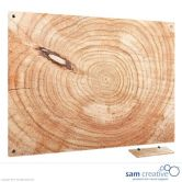 Glass Series Ambience Wooden Log 90x120 cm